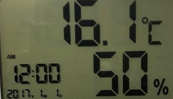 車中泊 温度計 湿度計 アラーム 時計